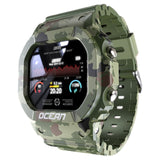 camo waterproof fitness tracker smart-watch touchscreen