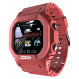 waterproof touchscreen fitness tracker smart watch pink