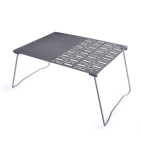 Titanium Charcoal Folding Grill with Folding Legs