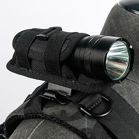 Waterproof 360 Degree Rotary Flashlight Backpack Attachment