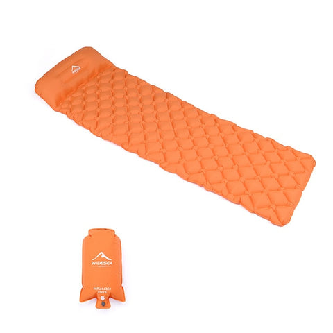 best self inflating camping mattress sleeping pad portable orange