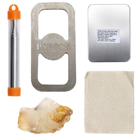 Flint and Stone Striking Tinder Fire Starter Kit