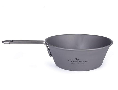 Boundless Voyage Titanium Narrowing Pot with Folding Handle (450ml)