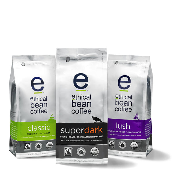 whole bean 3 pack - Ethical Bean Coffee Canada