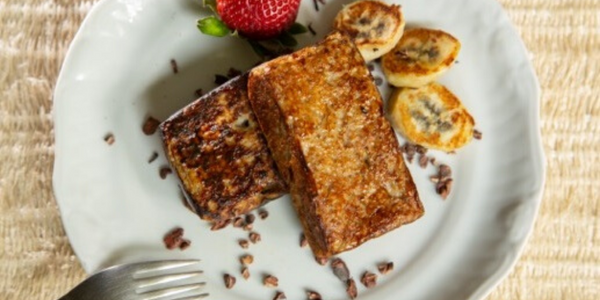 Receta: French toast de pan de plátano
