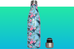 Miin Bottle vandflaske i Tropisk Flamingo design