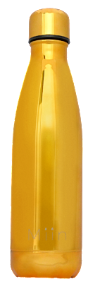 Miin Bottle | Old Gold - En genanvendelig vandflaske i guld som er fri for BPA.