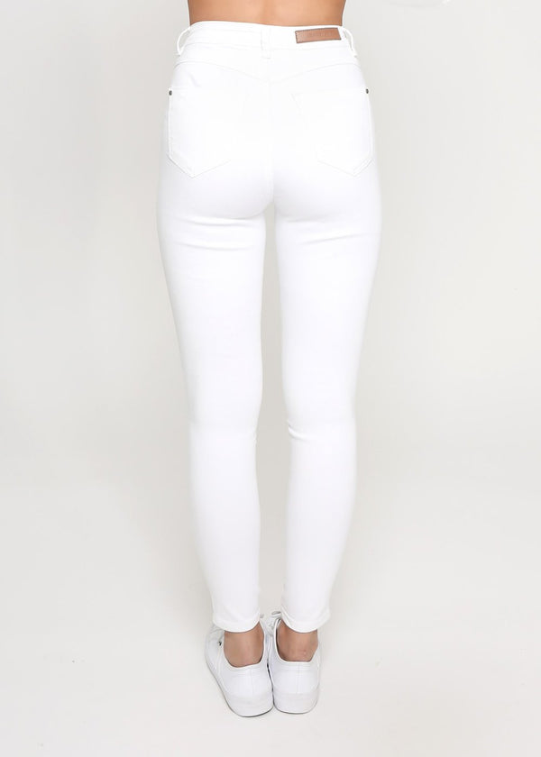 Kylie Ripped Jeans - White