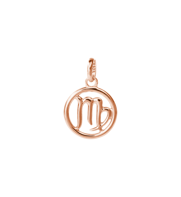 Virgo Zodiac Charm - Rose Gold