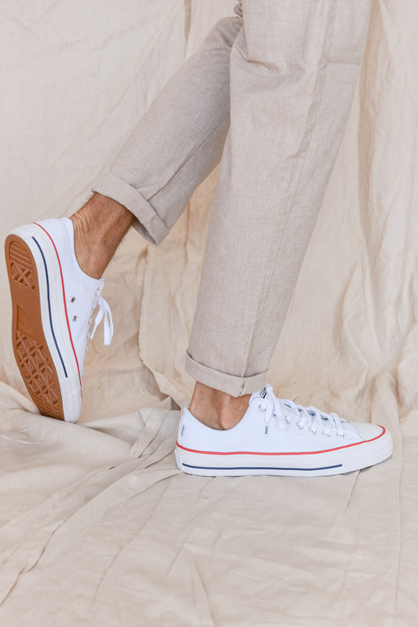 Canvas Low Sport - White