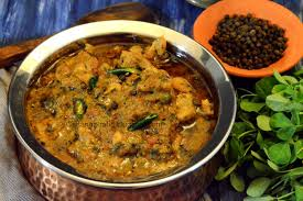 Methi Chicken with rice