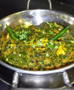 Chicken saag with rice