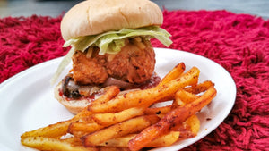 Chicken Burger with Masala Chips