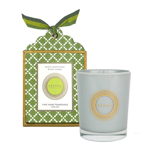 White Grapefruit & May Chang natural wax scented candle 180g