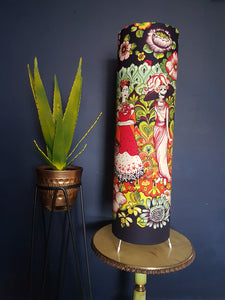 Frida Kahlo freestanding lamp in aubergine