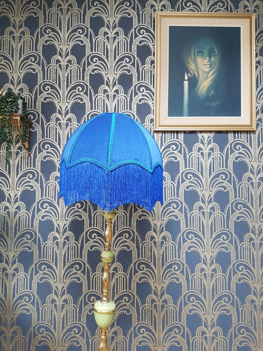 Electric Blue Deco Lampshade