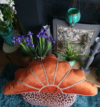 Load image into Gallery viewer, Spiced Orange Deco Fan Cushion
