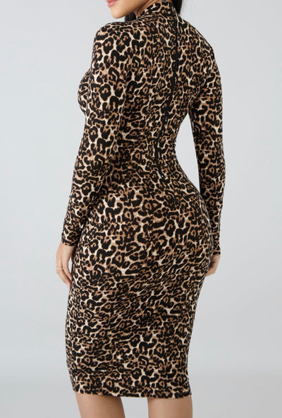 Fall In Love Leopard Midi Dress