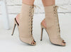 Lace Me Up Stiletto Ankle Boots
