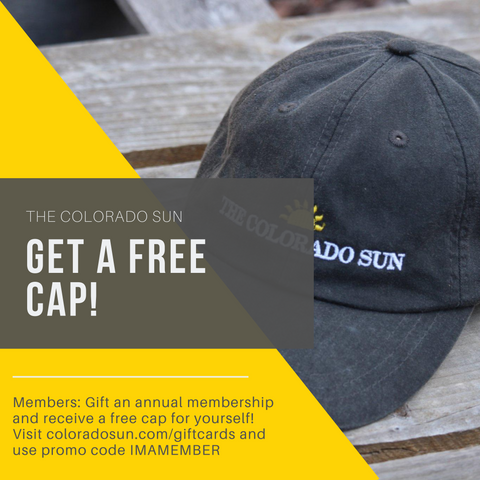 For members only: Get a free Colorado Sun cap with gift card purchase.