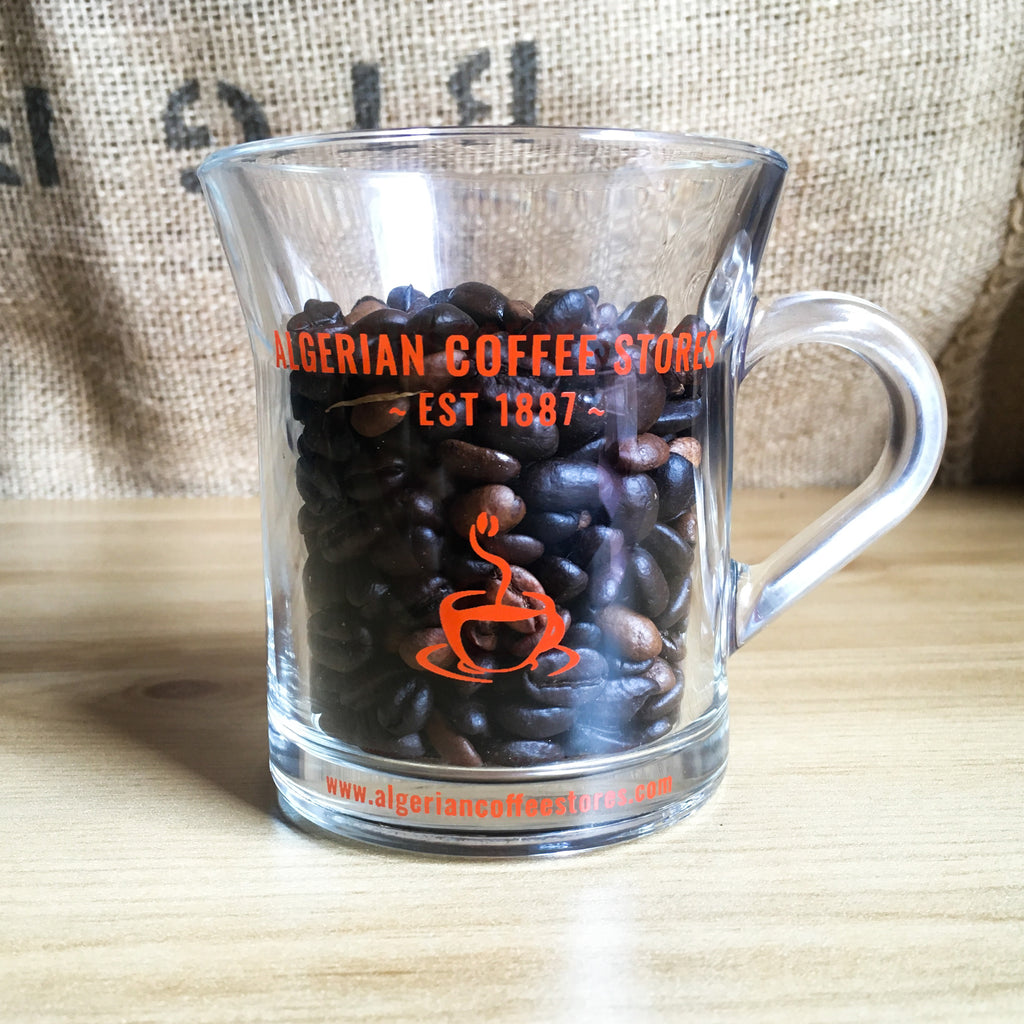 ALGERIAN COFFEE STORES GLASS MUG