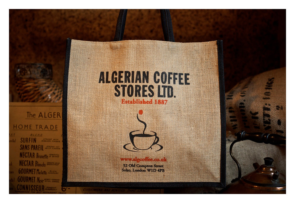 ALGERIAN COFFEE STORES LARGE SHOPPER BAG