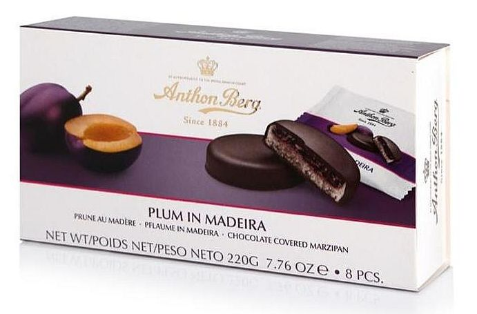 ANTHON BERG - PLUM IN MADEIRA MARZIPAN
