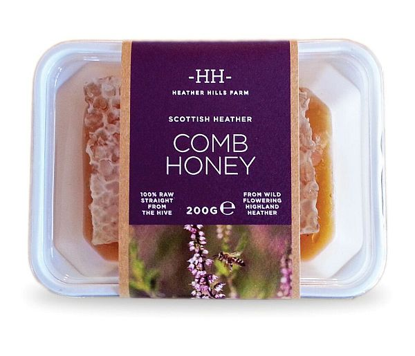RAW SCOTTISH HEATHER COMB HONEY