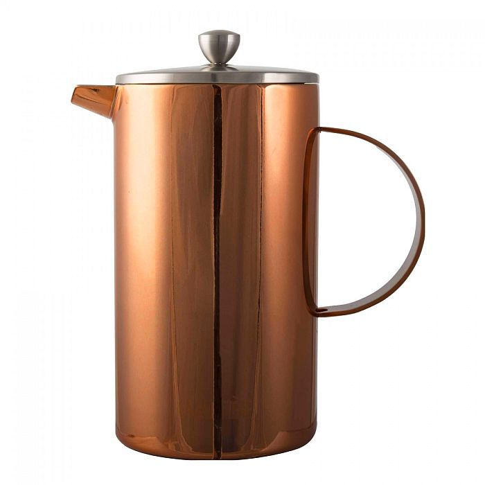 COPPER DOUBLE WALLED 8 CUP CAFETIERE