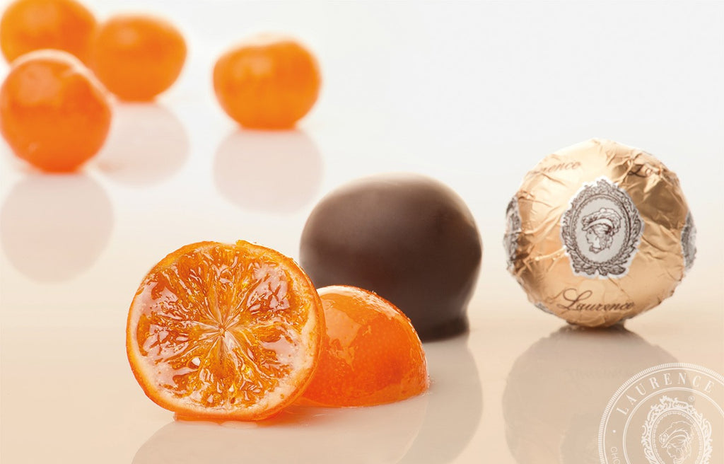 LAURENCE - WHOLE CANDIED MANDARINS IN DARK CHOCOLATE