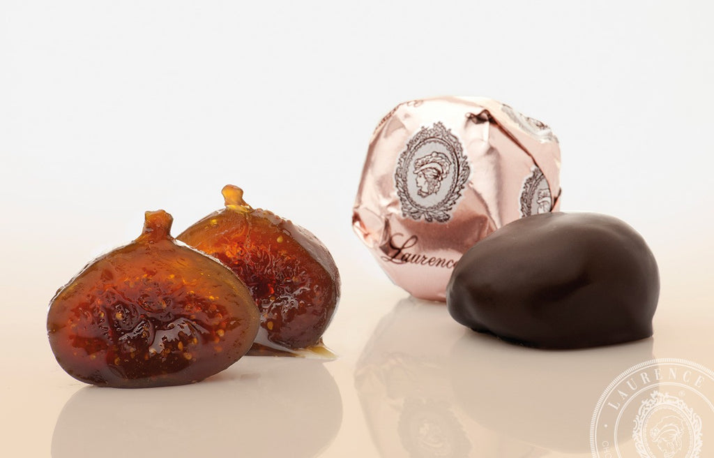 LAURENCE - WHOLE CANDIED FIGS IN DARK CHOCOLATE