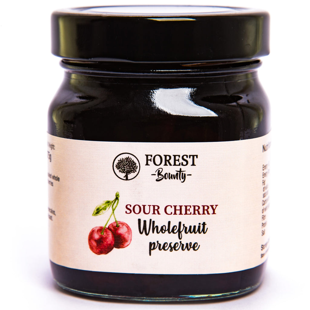 FOREST BOUNTY SOUR CHERRY WHOLE FRUIT PRESERVE