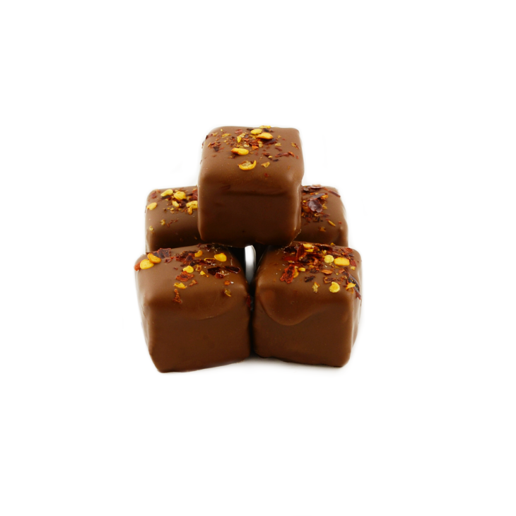 HOLDSWORTH MILK CHOCOLATE BANOFFEE & CHILLI TRUFFLES