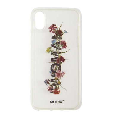 OFF WHITE FLOWERS TRANSPARENT IPHONE 7/8 CASE (NEW)