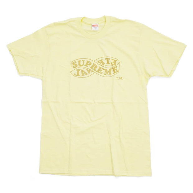SUPREME ETERNAL PALE YELLOW TEE LARGE (NEW)