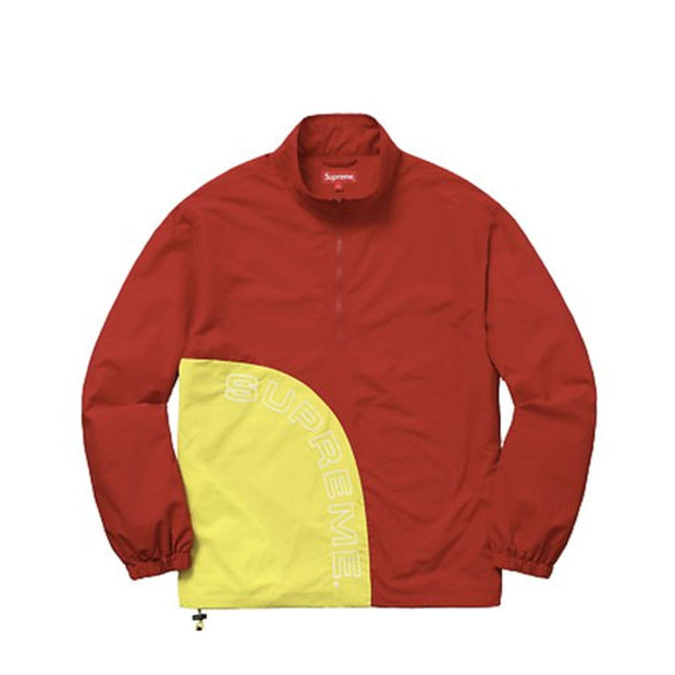 SUPREME RED / YELLOW CORNER ARC HALFZIP PULLOVER SMALL (NEW)