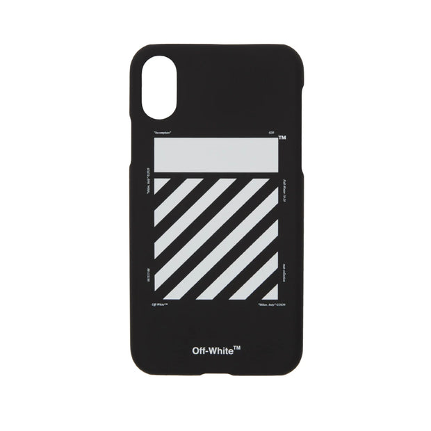OFF WHITE DIAGONALS TEMPERATURE BLACK IPHONE XR CASE (NEW)