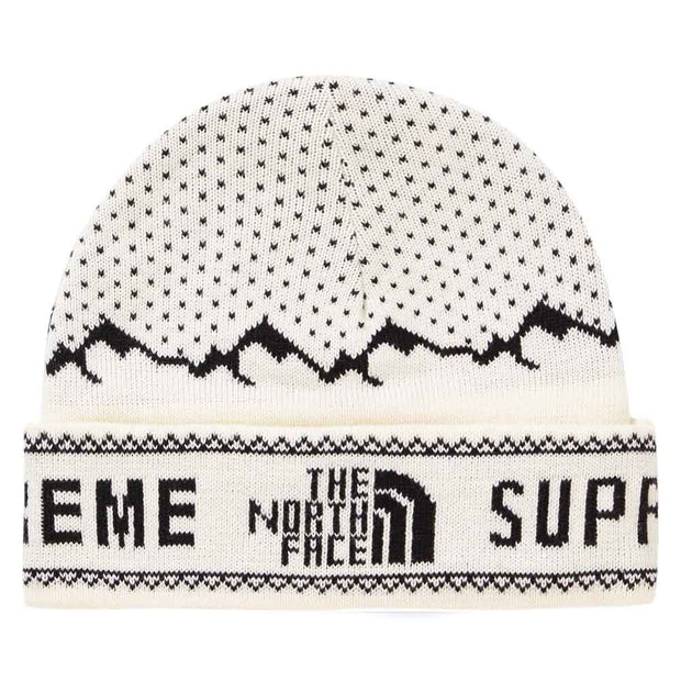 SUPREME X THE NORTH FACE FOLD BEANIE WHITE (NEW)