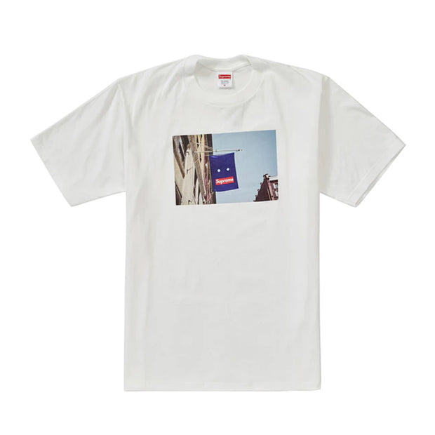 SUPREME FW19 BANNER TEE WHITE (NEW)