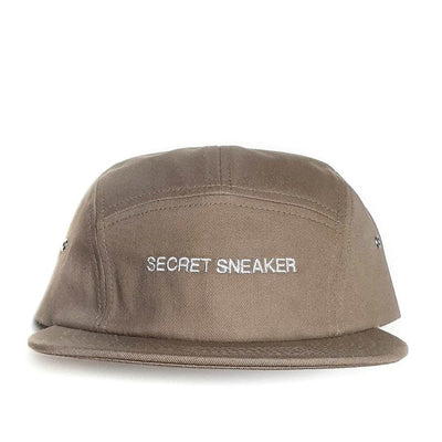 SSS ESSENTIALS SIGNATURE LOGO 5 PANEL CAP KHAKI (NEW)