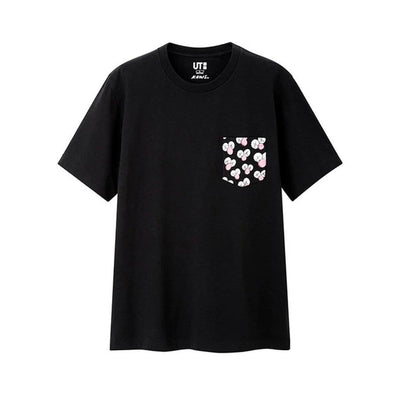 KAWS X UNIQLO BFF POCKET TEE BLACK SMALL (NEW)