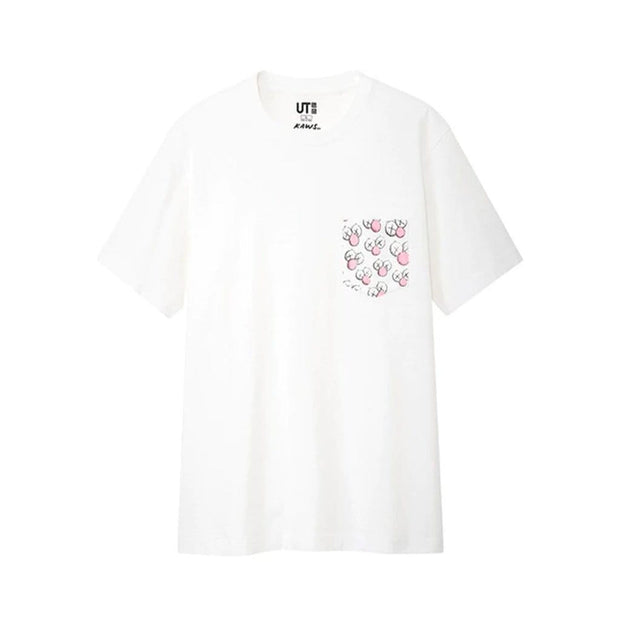 KAWS X UNIQLO BFF POCKET WHITE TEE MEDIUM (NEW)