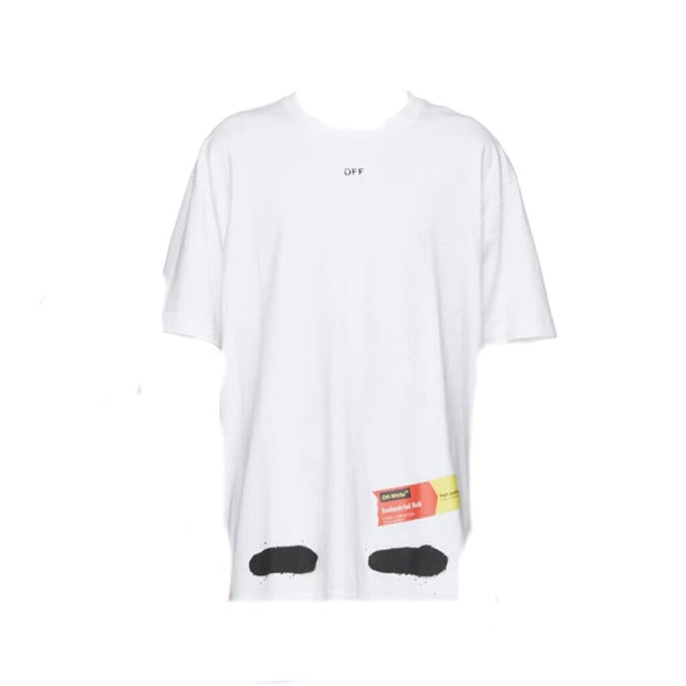 OFF WHITE DIAGONALS SPRAY TEE WHITE (NEW) LARGE
