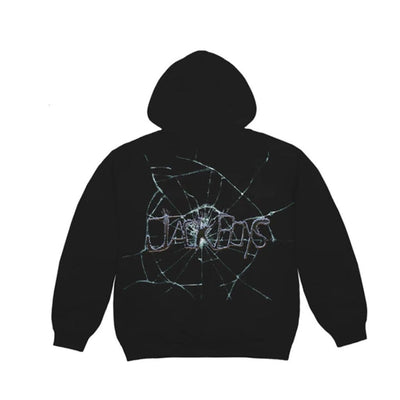 TRAVIS SCOTT JACK BOYS CRACKED HOODIE BLACK (NEW) XLARGE