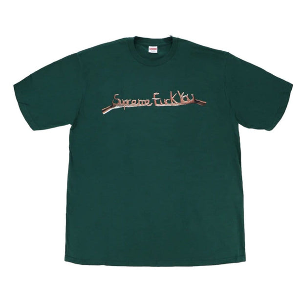 SUPREME FUCK YOU GREEN TEE LARGE (NEW)
