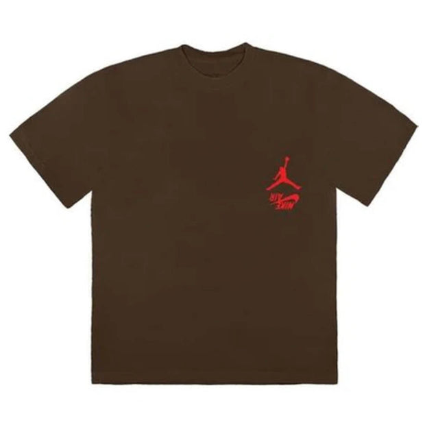 TRAVIS SCOTT X JORDAN HIGHEST IN THE ROOM BROWN TEE (NEW) -