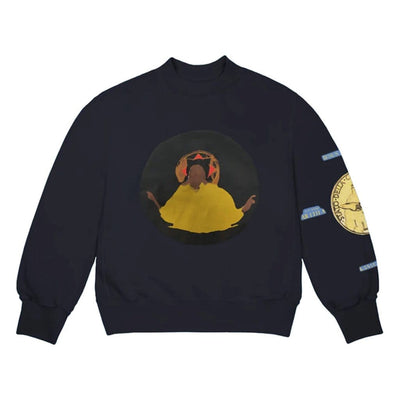 KANYE WEST JESUS IS KING DETROIT CREWNECK NAVY (NEW) MEDIUM