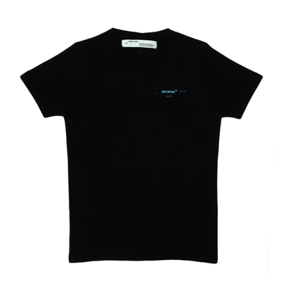 OFF WHITE GRADIENT MULTICOLOUR ARROWS BLACK TEE (NEW) SMALL