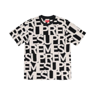 SUPREME SS20 SPELL OUT TEE BLACK LARGE (NEW)