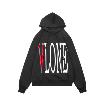 VLONE CLASSIC RED LOGO BLACK HOODIE (NEW) XLARGE
